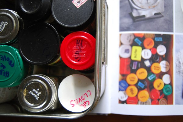 Organizing spice drawers