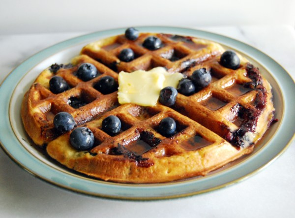 Sour Cream Blueberry Waffles from Joy the Baker Cookbook Over Easy
