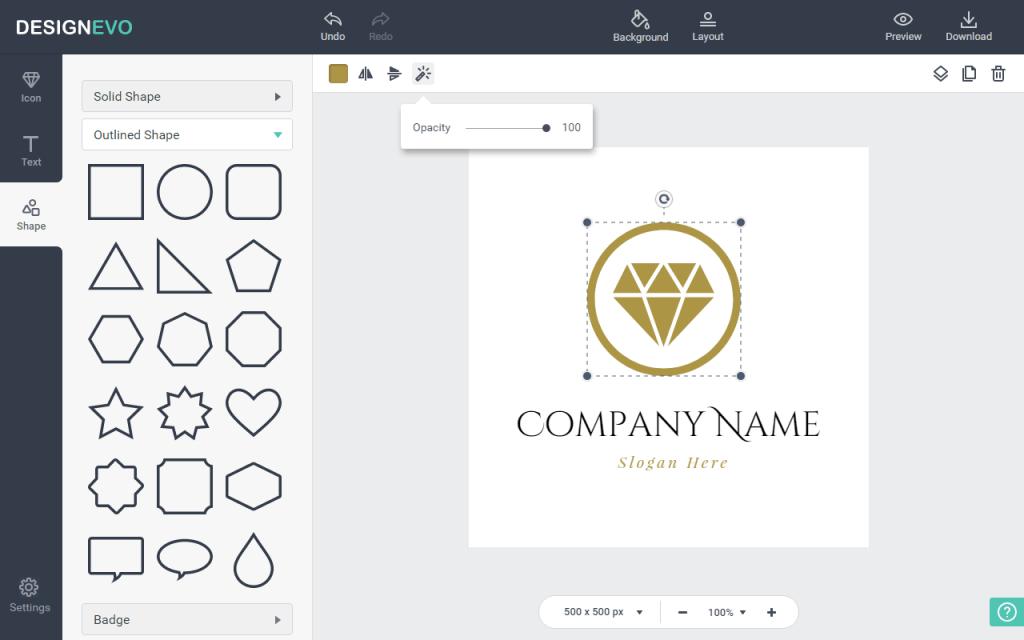 DesignEvo makes professional-looking logos.