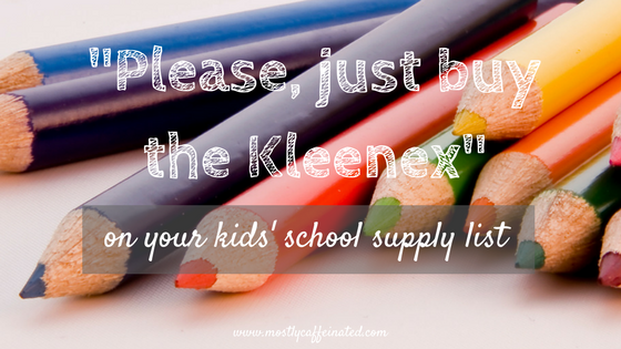 your kids' school supply list