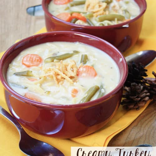 Creamy Easy Turkey Noodle Soup Mostly Homemade Mom