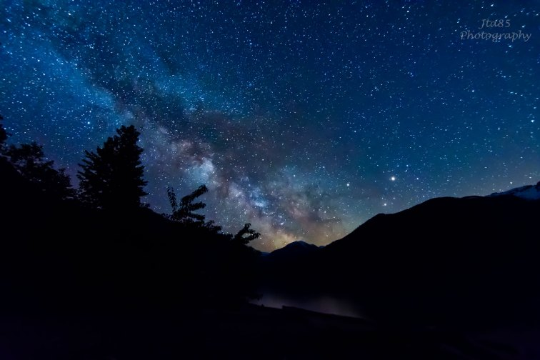 No.9 Buy The Milky Way rises above Lillooet Lake The Other Day