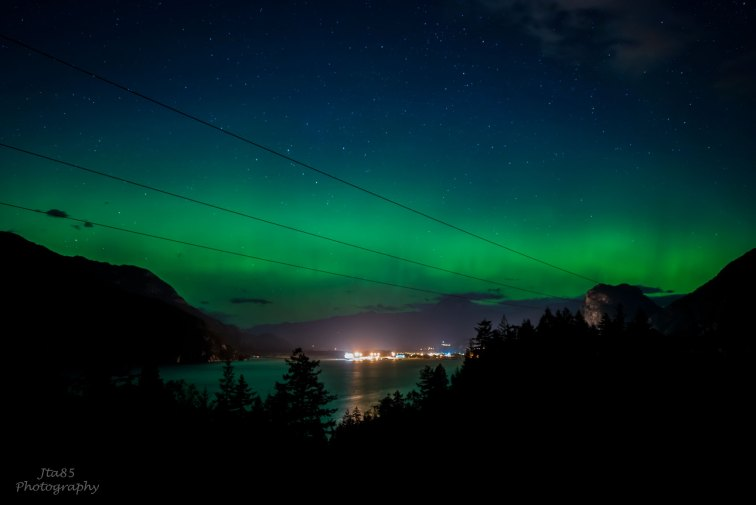 No.21 Buy Now The Northern Lights display their beauty above Squamish and the Stawamus Chief.
