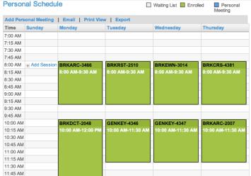 Cisco Live 2012 Schedule