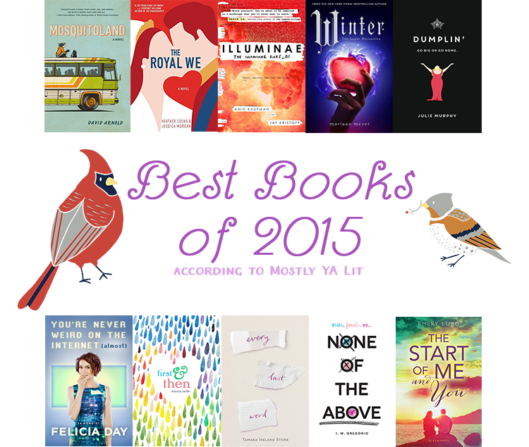 Best Books of 2015 Mostly YA Lit