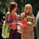 Picture of Buffy and Willow at university, on Mostly YA Lit's review of Just Visiting Dahlia Adler