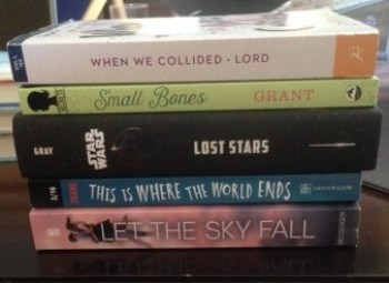 Mostly YA Lit book spine poetry #2 loveathon 2016