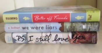 Mostly YA Lit book spine poetry #1 loveathon 2016