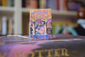 Gabi's Harry Potter mini-book necklace