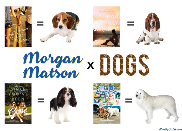 Morgan Matson x dogs full image created by Mostly YA Lit