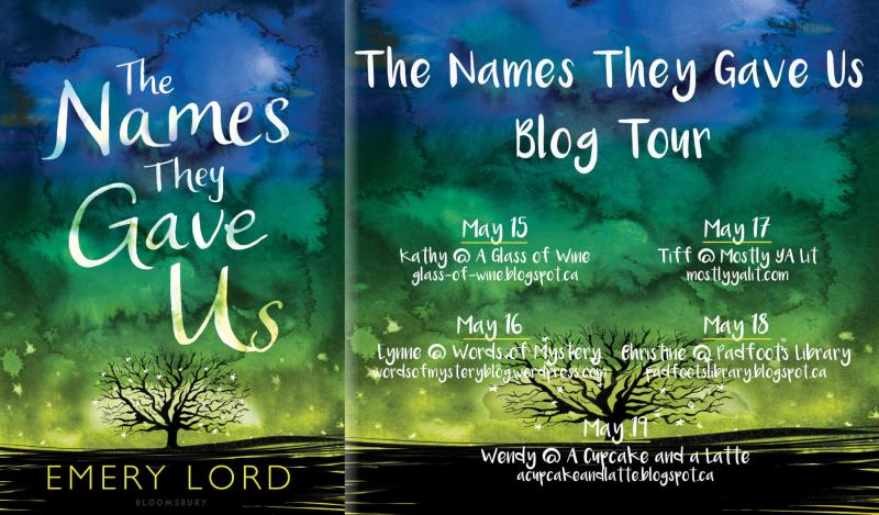 The Names They Gave Us blog tour banner Canada