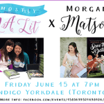 I'm interviewing Morgan Matson LIVE in Toronto on Friday, June 15!