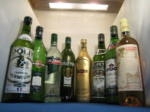 A selection of dry vermouths