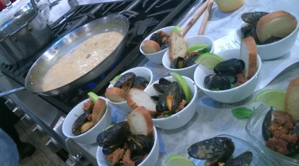 A Food Adventure of Champagne Mussels - a Chef House recipe
