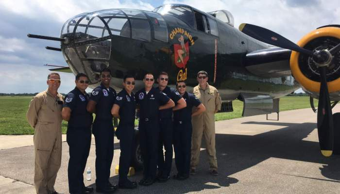Thunderbirds visit Wright Brothers' Sites, Ride WW II Bomber