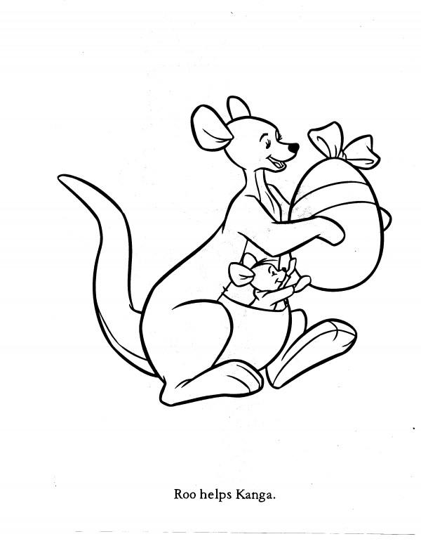 Kanga Amp Roo Coloring Pages