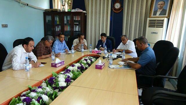 صورة مناقشة تنفيذ خطط ومشاريع المرحلة الأولى من الرؤية الوطنية بمؤسسة موانئ البحر الأحمر