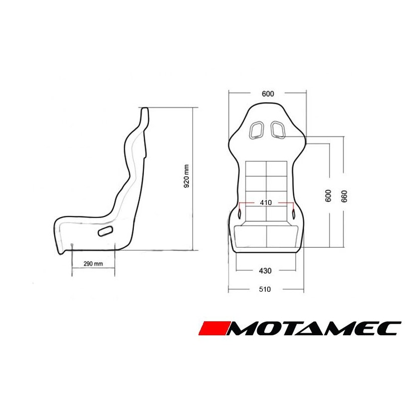 Motamec Racing Evo-Two FIA Approved Race Seat GRP Shell