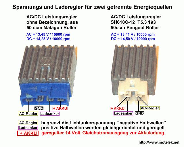 110 Atv Stator Wiring Diagram Scooter Elektrikpinbelegung Verschiedener Spannungsregler