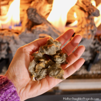 Glowing Embers for Fireplace - Mother Daughter Projects