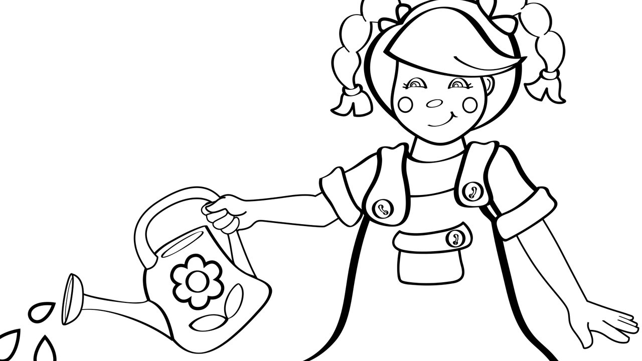 Mary. Mary. Quite Contrary - Coloring Page - Mother Goose Club