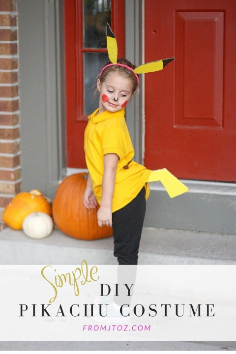 Simple DIY Pikachu Costume