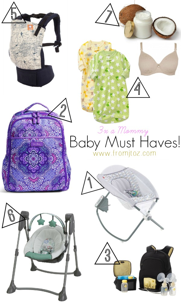 baby necessities from a mom of three