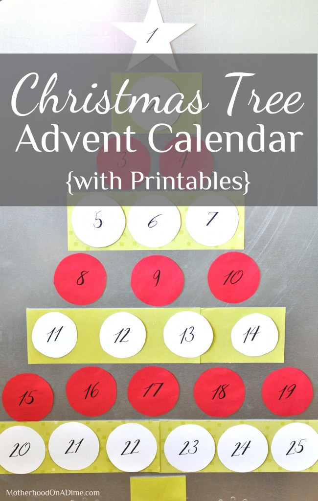 Christmas Tree Advent Calendar With Printables Kids