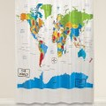 Get the world map shower curtain for just 8 63 right now reg 24 99