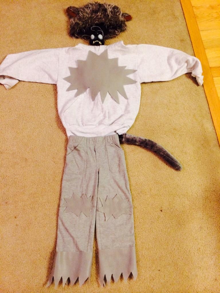Diy No Sew Wolf Halloween Costume Motherhood Support