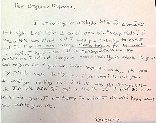 Check Out This Kid's Handwritten Apology For Prank Calling 9