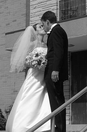 wedding - bw