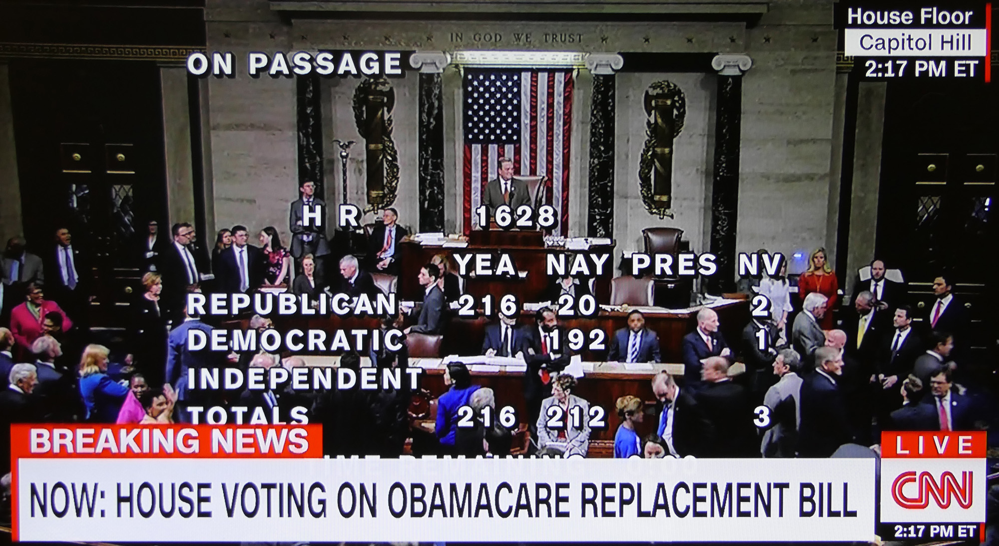 Image result for house republican vote to repeal obamacare