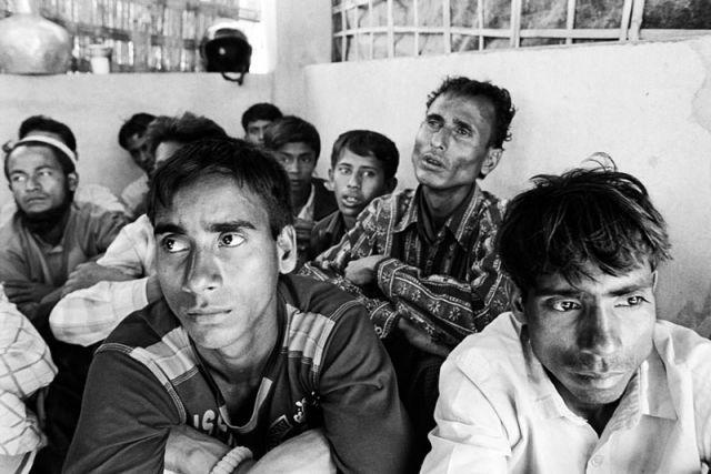 Detained Rohingya