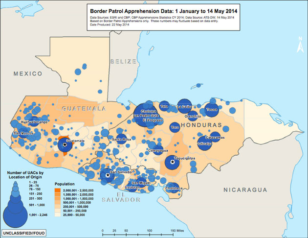 Map: These Are the Places Central American Child Migrants Are Fleeing –  Mother Jones