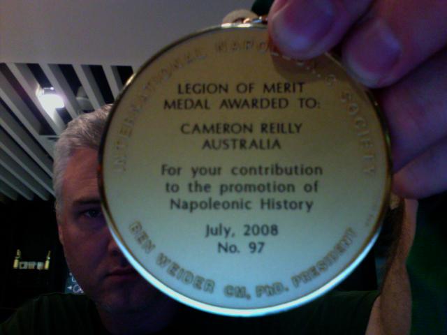 Cameron Napoleon medal legion of merit 2008 2