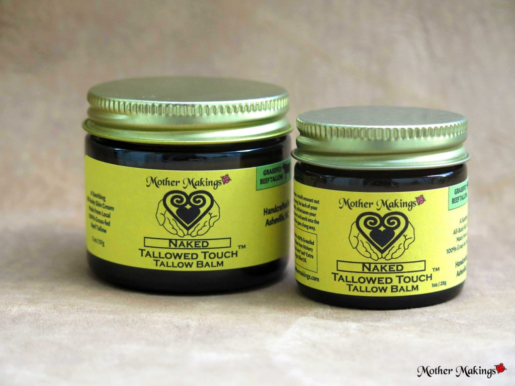 2oz and 1oz jars of Naked Tallowed Touch Tallow Balm.