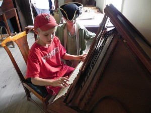 Playing the harpsichord in Colonial Williamsburg