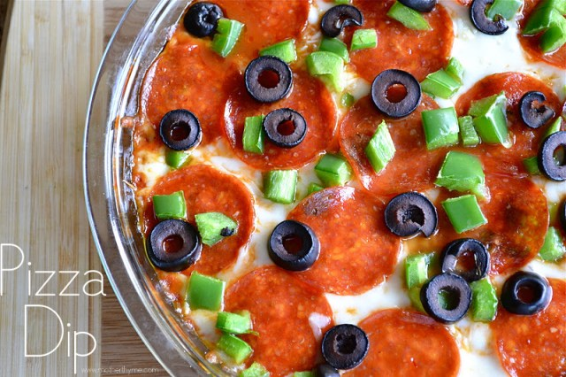 Pizza Dip - www.motherthyme.com