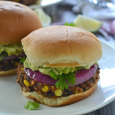 Black Bean Sliders with Avocado Mayonnaise