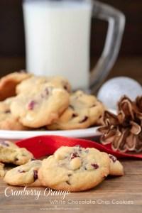 Cranberry-Orange White Chocolate Chip Cookies