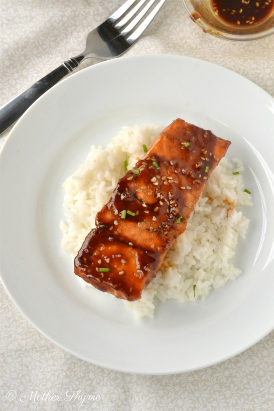 Hoisin Glazed Salmon | www.motherthyme.com