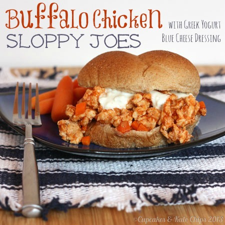 Healthier Buffalo Chicken Sloppy Joes