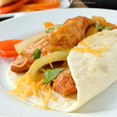 Slow Cooker Chicken Fajitas #PepperParty plus Le Creuset Giveaway!