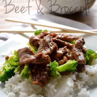 Slow Cooker Beef and Broccoli (+ Pantry Crashers Video)