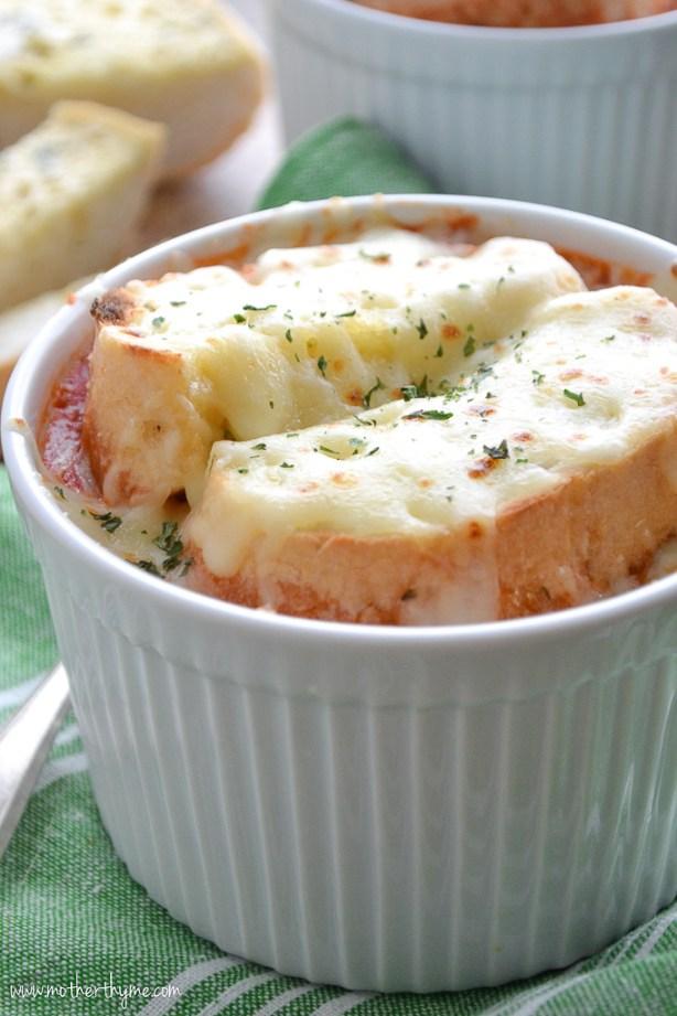 Meatball Sub Soup | www.motherthyme.com