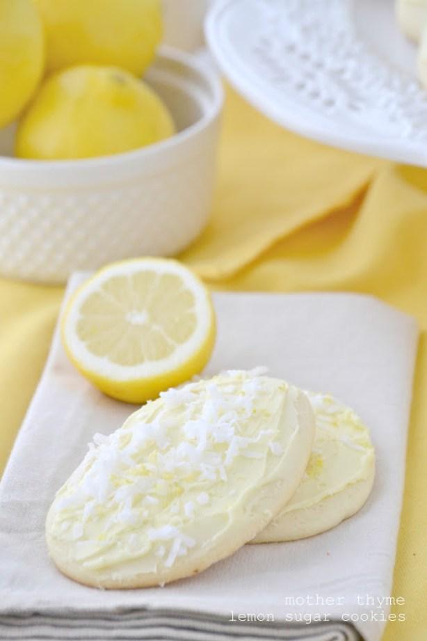 Lemon Sugar Cookies from www.motherthyme.com