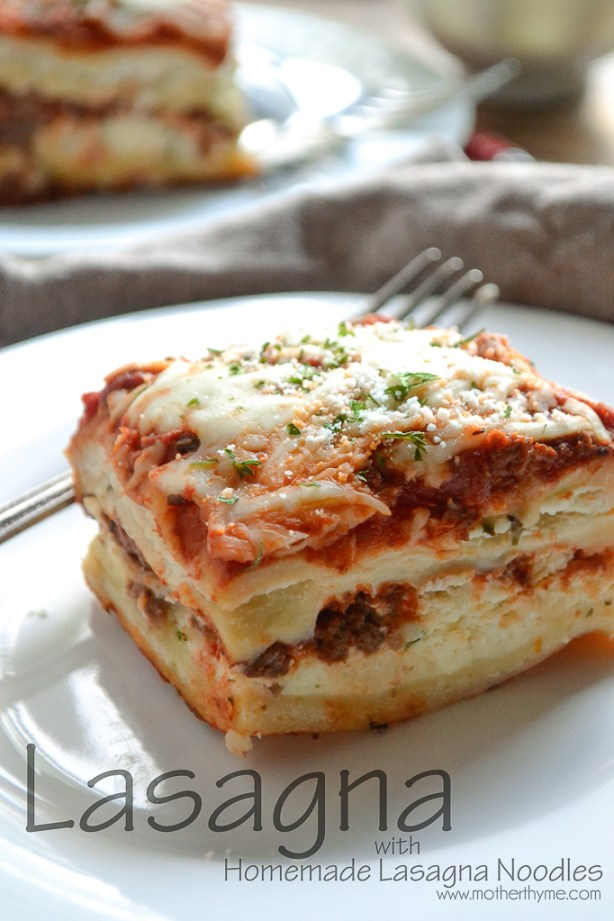 Lasagna from www.motherthyme.com