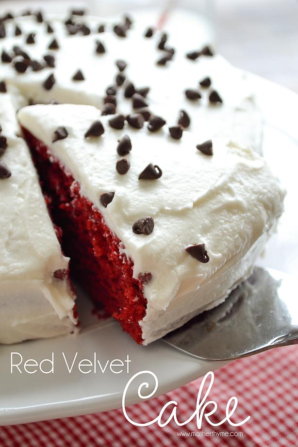 Red Velvet Cake from www.motherthyme.com