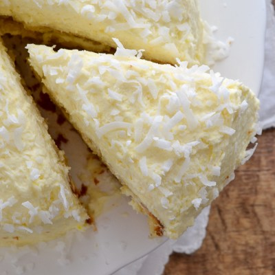 Coconut Cream Cake with Coconut Cream Frosting